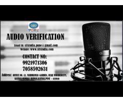 FORENSIC AUDIO VERIFICATION - SIFS INDIA , PUNE