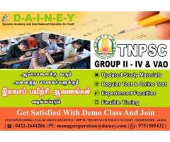 TNPSC Group 2 and VAO Coaching classes at DAINEY EDUCATION