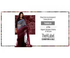 Tanuja welcomes you look at her wardrobe at TheHLabel Exhibition and Sale