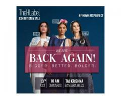 Hyderabad's Grand Fashion Design Event, TheHLabel Exhibition & Sale, on Oct 13!