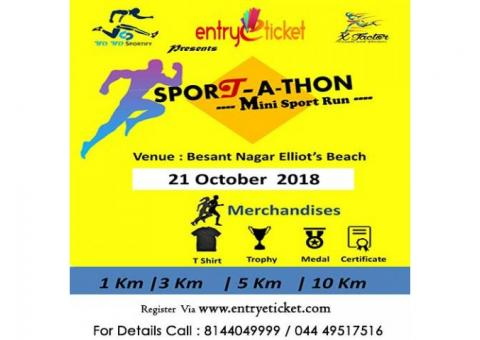 Sportathon in Chennai 2018 | Entryeticket