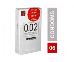 Ultra-Sensitive Thin Condom by Okamoto 002 (0.02mm) - L Size (Contains 6 pcs) - Made in JAPAN