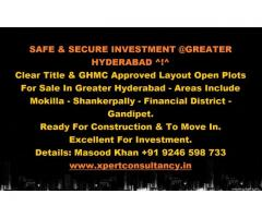 Safe and Secure Investment @Greater Hyderabad  TS!