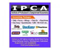 Tally, Focus, PACT, Wings, Peachtree, Dac-Easy, QucikBooks PRO, MYOB, SAGE 50