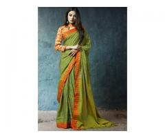 Buy latest Cotton sarees online at Mirraw