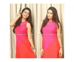 Payal Rajput Looks Bright In Thehlabel's Red & Pink Tunic