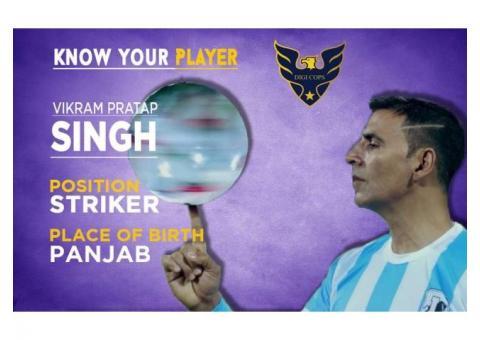 Vikram Pratap Singh Striker from Punjab