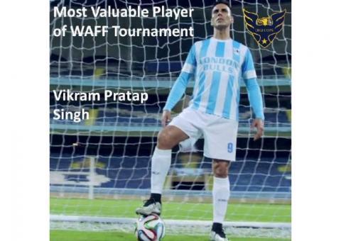 Vikram Pratap Singh Most Valuable Player of WAFF Tournament