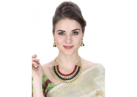 Buy stylish pearl necklace Online