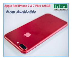 Apple Red iPhone 7/7 Plus 128GB Available In Idris Electronics