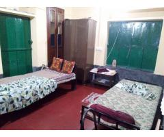 PG accommodation, only for girls. Opp: Sahitya Parisad Library, Bus stop.