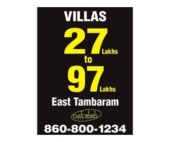 villas at apartment price in east tambaram