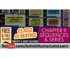 Deep Learning Classes of Sequences and Series Class 11 Maths