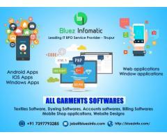 Bluezinfomatic is a leading software Developer in Tirupur Expertise in Garments.