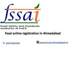 Fssai online registration in Ahmedabad   9327303338