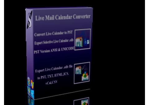 Convert Live Mail Calendar Item .EDB to .PST