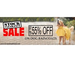Clearance Sale: Up to 55% OFF: Dog Raincoats