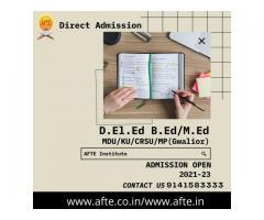 Direct admission D.El.Ed/B.Ed/M.Ed