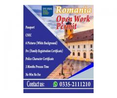 ROMANIA OPEN WORK PERMIT