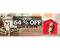 Save Upto 64%Off: Pet Beds & Huts: Comfort Sleep For Your Pet