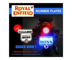 Buy Royal Enfield Light Number Plate