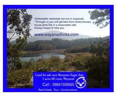Land for sale near Banasura Sagar dam
