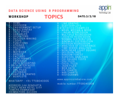 data science using R programming one day workshop