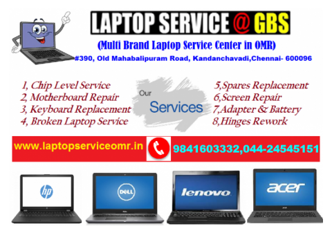 Laptop Service @ GBS -Samsung-Laptop Repair & Service Center in OMR - Kandanchavadi