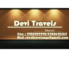 car booking in mysore +91 9980909990  / +91 9480642564