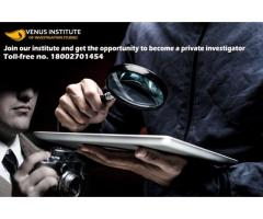 Join our institute and get the opportunity to become a private investigator