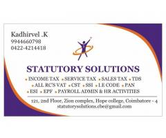 CONSULTANCY SERVICES FOR SALES TAX, INCOME TAX, NEW RC AND ALL