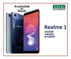 RealMe 1 3/32GB, 4/64GB, 6/128GB Available In Stock Only In Idris Electronics Raipur